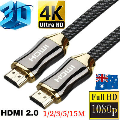 4K Ultra HD HDMI Cable V2.0 3D High Speed 1m 2m 3m 5m 15m Gold Plated Ethernet