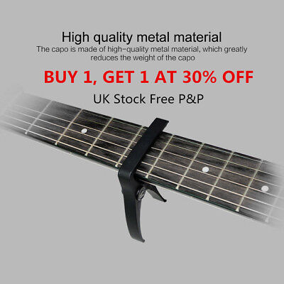 Premium Guitar Capo: 'Quick Change' Trigger Clamp for Acoustic Electric UK D