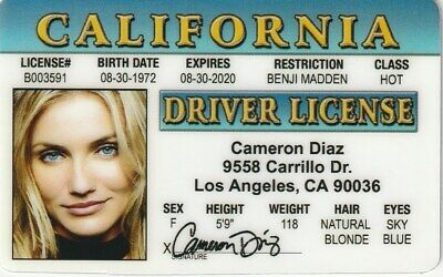 97 2 Card Diaz - Drivers d I License Picclick Fake Cameron Novelty Identification