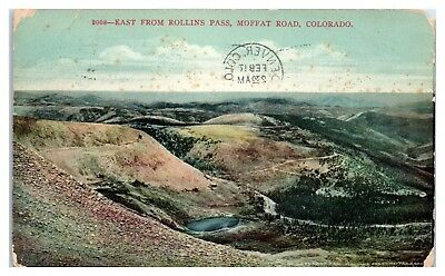 1917 East from Rollins Pass, Moffat Road, CO Postcard