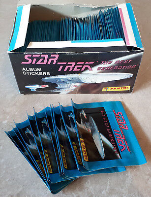 Star Trek Next Generation Album Stickers Panini 1992 100 Sealed Packs in Box