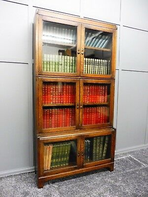 Oak Sectional Stacking Lawyers Bookcase