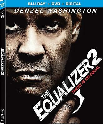 The Equalizer 2 (Blu-ray + DVD + Digital HD) 2018  Brand NEW w/ Slipcover Sealed