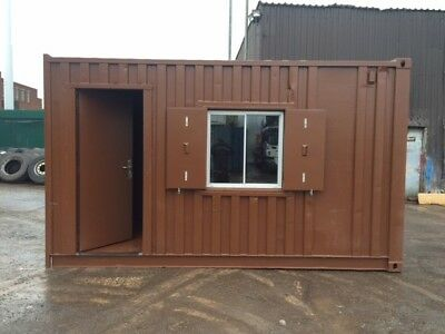 15ft x 8ft Office Shell Shipping Container - London