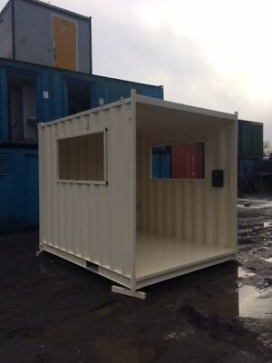 10ft x 8ft New Smoking Shelter Shipping Container - Glasgow