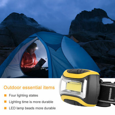 Super brillant Imperméable Lampe frontale/ Phare Lampe LED USB Batterie 3AAA FR