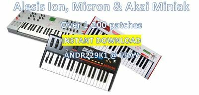 Alesis Micron Ion Akai Miniak - Patchbanks / Sounds – 1200+ patches - D0WNL0AD