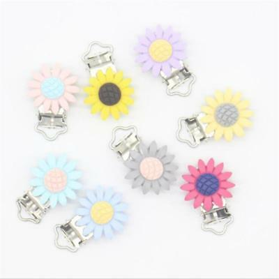 New Baby Infant Toddler Flower Dummy Clip Baby Soother Clips Holder FW