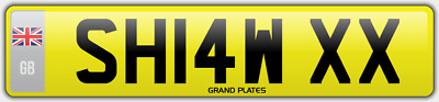 Shaw Number Plate Shaws Cherished Car Registration Sh14 Wxx Assignment Fees Paid
