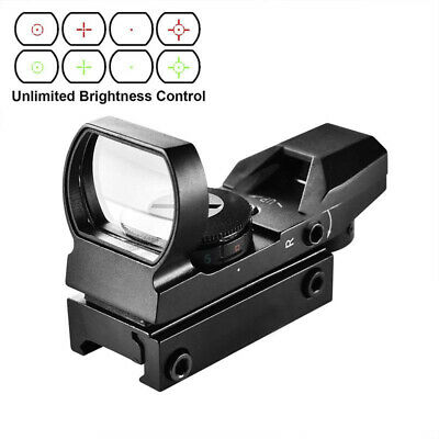 Red Dot Reflex Sight Green Holographic Scope Tactical Rifle Mount 20mm Rails