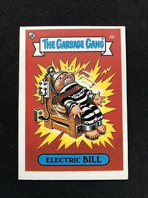 The Garbage Gang Electric Bill 4b 1985 Card Sticker Vintage