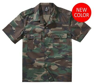 0d6b492f968e9 BRANDIT Chemise homme casual militaire manches courtes US 1/2 Bras Woodalnd