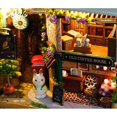 4 Themes 3D Dollhouse Miniature Doll House Box Theatre Kids Toy A Happy Corner