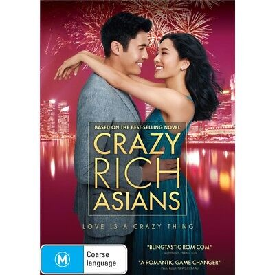 CRAZY RICH ASIANS-DVD-Region 4-New AND Sealed
