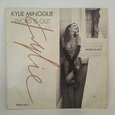 """Kylie Minogue – Word Is Out -  Vinyl, 12"""", 45 RPM, Maxi-Single - France 1991"""
