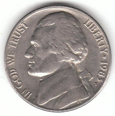 United States 5 Cents Nickel - 1983 P Copper-Nickel Coin