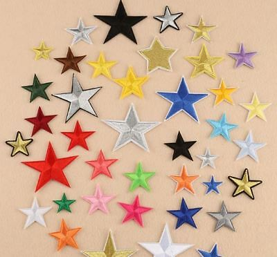 Star Embroidered Fabric Applique Sew It / Iron On Patch Badge Crafts Diy