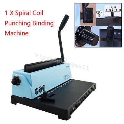 All Steel Metal Spiral Coil 34Holes Punching Binding Machine Safe Use Durable