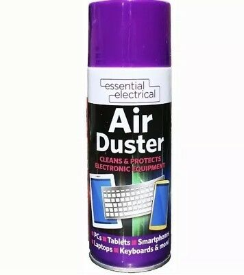1x Compressed Air Duster Cleaner Spray Can Protect Laptops Keyboard Mouse 400ml