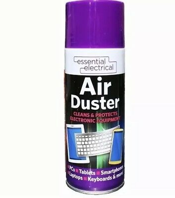 400ml Compressed Air Duster Spray Can Cleans Protects Laptops Keyboards etc UK