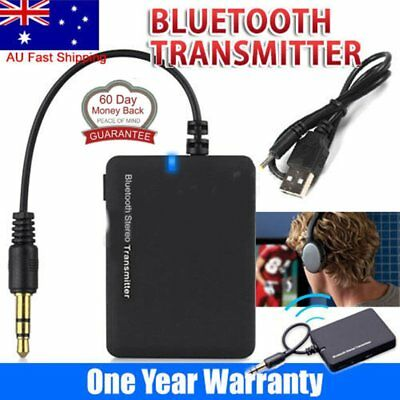 Bluetooth 3.5 A2DP Stereo Audio Adapter Dongle Sender Transmitter For TV Lot BY