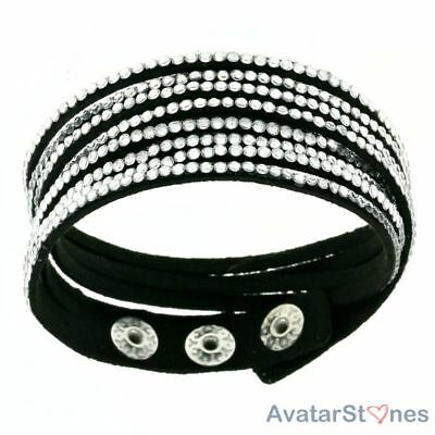 Women's Girl's Hot Faux Leather Snap Bracelet Wristband BL5V4C