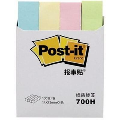 800 x 3M Post-it Portable Flags Assorted Colours 700H 12 x 75mm