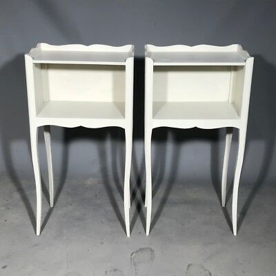 Pair of antique French painted bedside tables