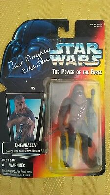 Kenner Star Wars The Power Of The Force Chewbacca Action Figure with Autograph