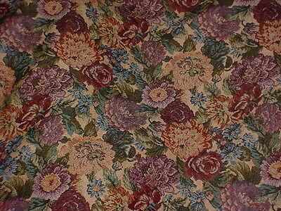 5 Yds Stunning Floral Tapestry  Upholstery, Craft Fabric