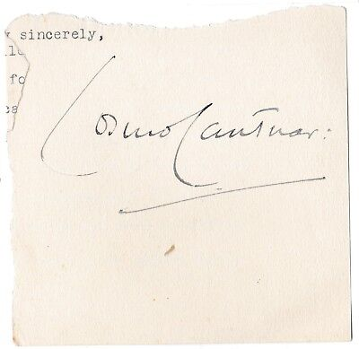 Cosmo Lang - Baron Lang - Archbishop of Canterbury - original signature