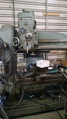 """4' x 12"""", Used Fosdick Leblond  Radial Arm Drill with Rotating Table for Angles"""