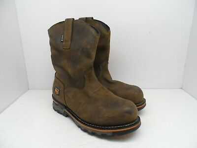 4e58cdd1f62c TIMBERLAND PRO Men s AG BOSS ALLOY TOE PULL-ON WORK BOOTS 1053A Brown 8W