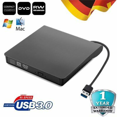 USB 3.0 Extern CD-RW DVD±RW Brenner Slim Laufwerk Brenner for Windows 10 Mac OSX