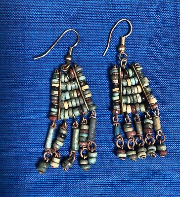 Ancient Egyptian Mummy Beads Earrings