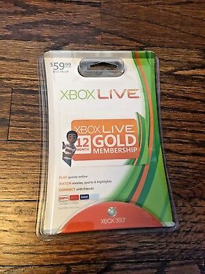 Microsoft Xbox Live 12 Month Gold Membership - NEW -  Old school bubble package