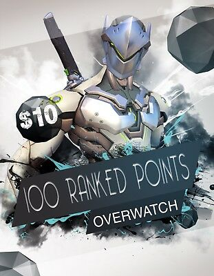 PS4 OVERWATCH Ranked Boost 100 Points (GUARANTEED)