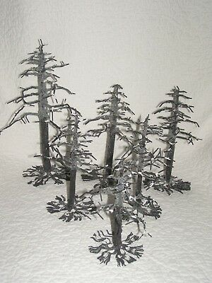 "WINTER TREES: Set of 6 ""Bare Branch Trees""   6 inch to 9 1/2 inch tall  Dept 56"