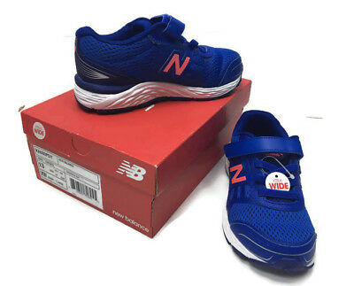 d32137ce32f23 New Balance 680v5 Little Kids Size 13 Extra Wide Running Shoe Pacific Blue