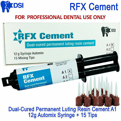 DSI Dental RFX Permanent Luting Resin Radiopaque Cement Automix 12g Syringe A1
