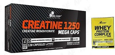 Olimp CREATINE MONOHYDRATE 1250 + FREE WHEY Protein Complex, Rise muscle size