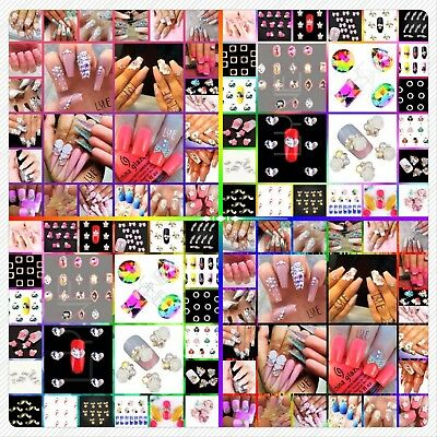 149+ Designs 10pcs Crystal 3D Nail Art Alloy Bling Gem Rhinestone Stud Charms UK