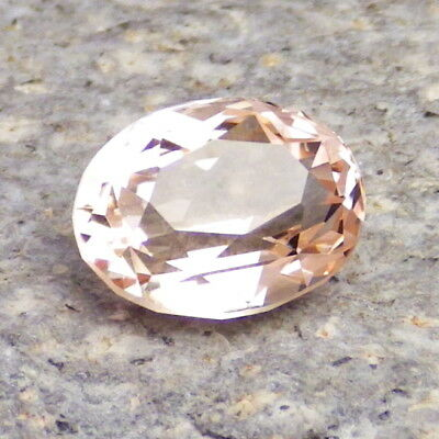 MORGANITE-NIGERIA 3.13Ct CLARITY VS2-PRECISION FACETING-FOR UNIQUE JEWELRY!