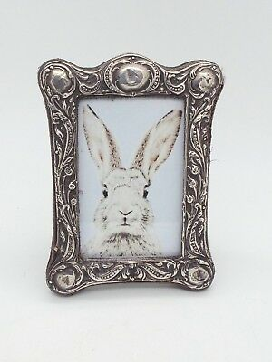 Antique Chester Hallmarked Sterling Silver Photo Picture Frame 1919