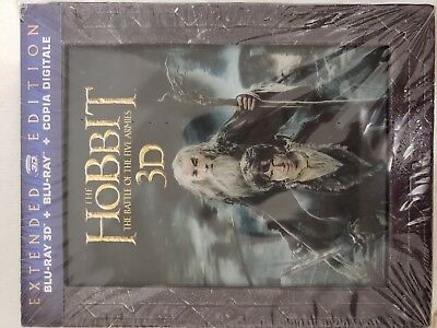 The Hobbit Battle Of The Five Armies (Extended) 5 Blu-Ray +3D + Digital Download