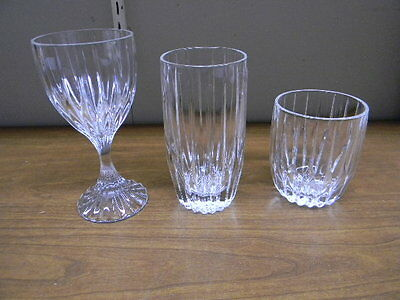 "4 Mikasa Crystal ""park Lane"" Pattern 6 1/4"" Tall Wine Goblets"