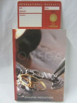 International Warranty Card and Operating Instructions Book for OMEGA Watches