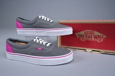 566df03729 Vans Era Heel Pop Pewter Fuchsia Red Skate Shoes ~ Us Mens 8.5   Womens 10