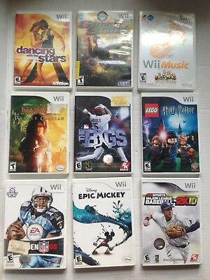 (28) Nintendo Wii Game Games Lot, Lego Star Wars Harry Potter Mario Disney More