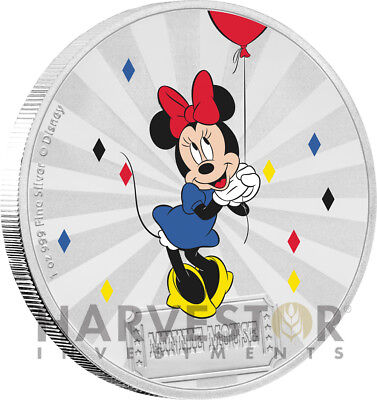 2019 Disney Mickey Mouse & Friends Carnival: Minnie - 1 Oz. Silver Coin - 2Nd
